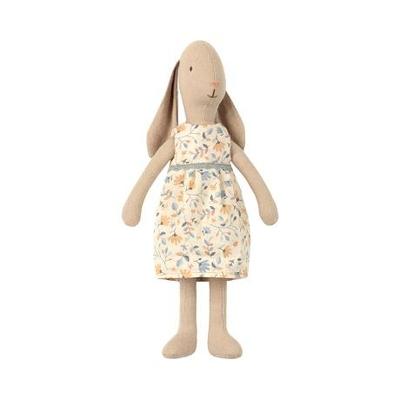 Lapin Maileg taille 2, 26 cm, avec sa robe à fleurs