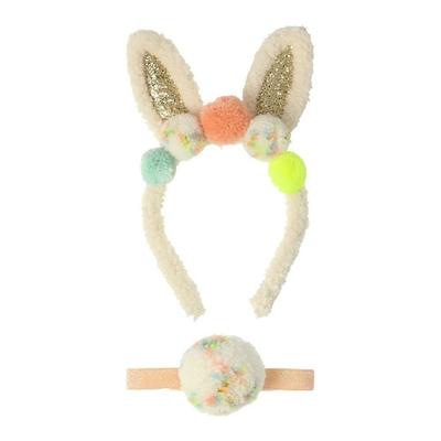 Accessoires de lapin : serre-tête et pompon