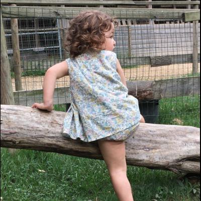 Barboteuse-robe Mia Blue Garden