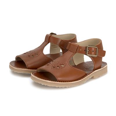 Sandales Belle T-Bar Junior coloris Chestnut Brown (du 31 au 35)