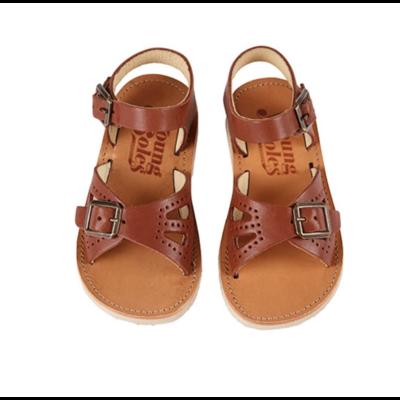 Sandales Pearl Junior coloris Chestnut Brown (du 31 au 38)