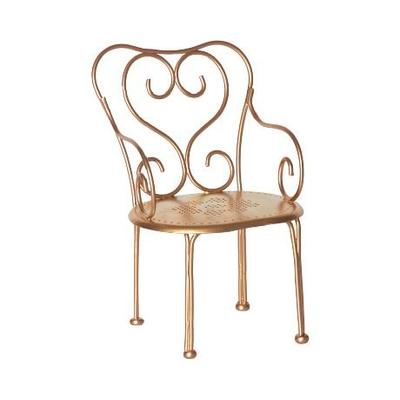 Chaise vintage dorée