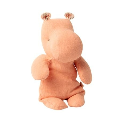 Doudou Maileg : Safari friends - Hippopotame small coloris abricot