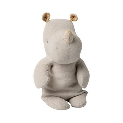 Doudou Maileg : Safari friends - Rhinocéros small coloris gris