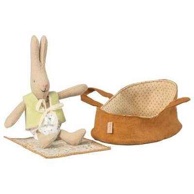 Lapin Maileg : micro lapin et son couffin