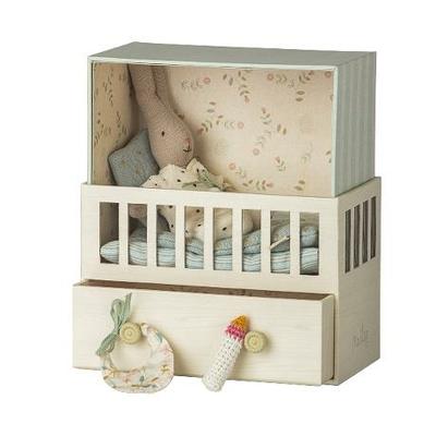 Babyroom Maileg : boîte à musique et bébé lapin garçon