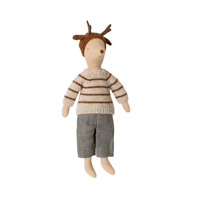 Souris Maileg : garçon au bonnet de rêne format Medium 31 cm