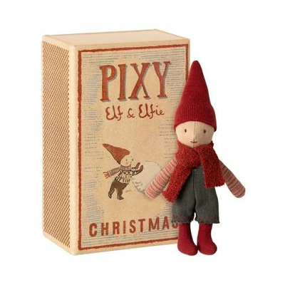 Garçon Elfe Pixie dans sa boîte d'allumettes Maileg