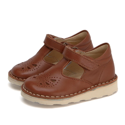 Chaussures Poppy T-Bar coloris Chestnut Brown (du 18 au 24)