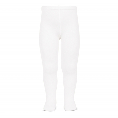 Collants lisses coloris Blanc