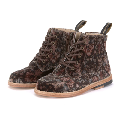 Chaussures Buster Brogue Boots Brown Velvet Leather
