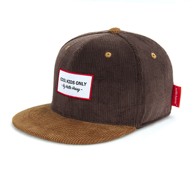 Casquette Hello Hossy velours Sweet Brownie