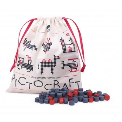 Pictocraft gris et rouge