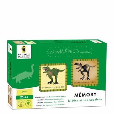 Jeu de mémory des dinosaures - le dinosaure et son squelette