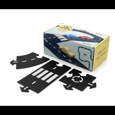 Circuit modulable pour voitures - 40 pièces - King of the road / l'as du volant