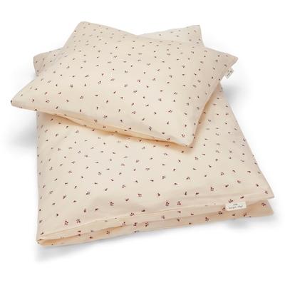 Parure de lit enfant imprimé cerises coloris blush