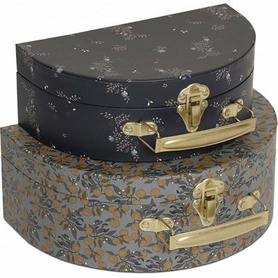2 valises gigognes - Orangery blue, nostalgie blue