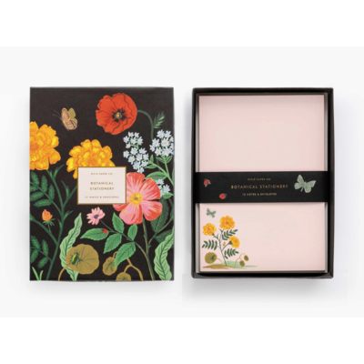 Set de 12 cartes et enveloppes - Botanical
