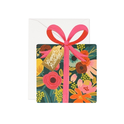 "Carte double ""Happy Birthday"" avec enveloppe"