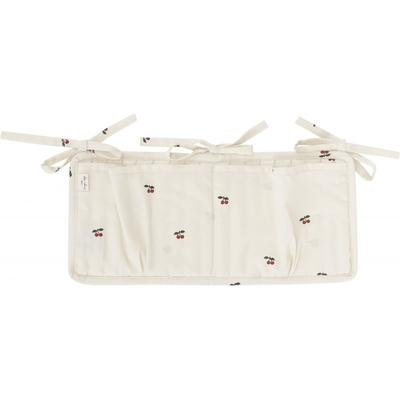 Pochette de rangement cerises coloris blush (fond rose poudré)