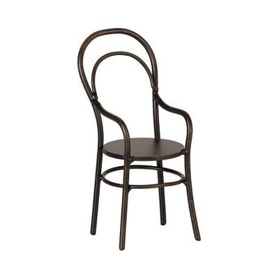 Chaise noire avec accoudoirs Maileg