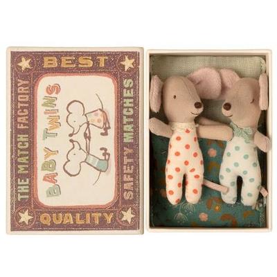 PRECOMMANDE (livraison début mars 2021) : Jumeaux Souris Maileg : bébés souris dans leur boîte d'allumettes