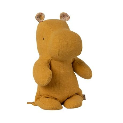 Doudou Maileg : Safari friends - Hippopotame small coloris dusty yellow