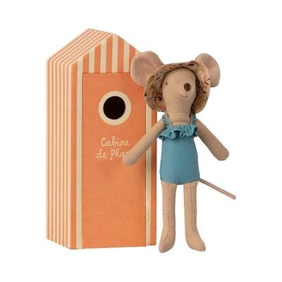 PRECOMMANDE (livraison mi mai 2021) : maman souris dans sa cabine de plage