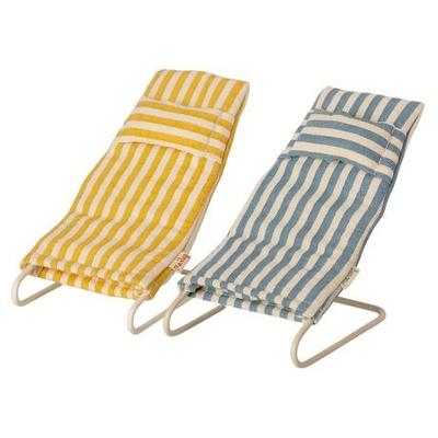 PRECOMMANDE (livraison mi mai 2021) : Lot de 2 chaises de plage Maileg