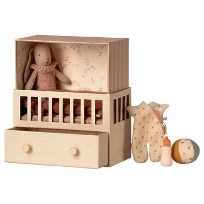 PRECOMMANDE (livraison début juin 2021) : Babyroom Maileg : boîte à musique et bébé lapin fille