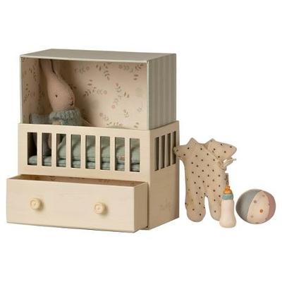 PRECOMMANDE (livraison début juin 2021) : Babyroom Maileg : boîte à musique et bébé lapin garçon