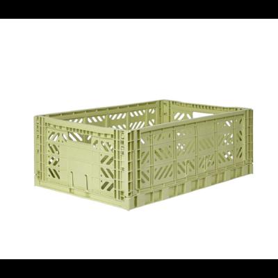 Caisse de rangement pliable Maxi coloris Lime Cream