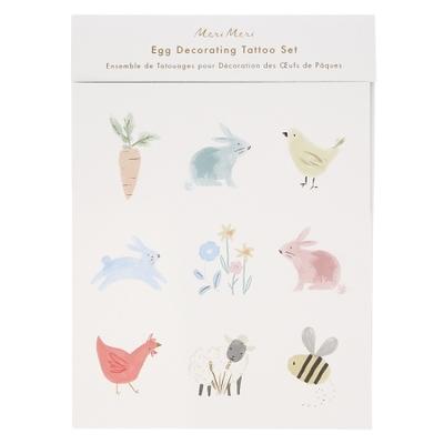 Kit de tatouages pour oeufs de Pâques