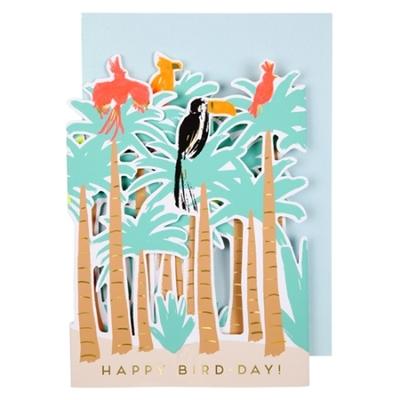 Carte à déplier : oiseau tropical
