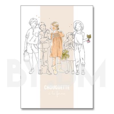 Chouquette, cahier de coloriage by.bm