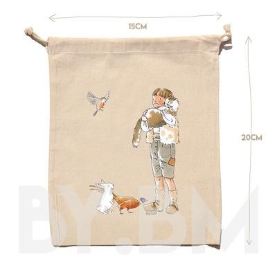Pochon La compagnie des animaux by.bm 15 x 20 cm