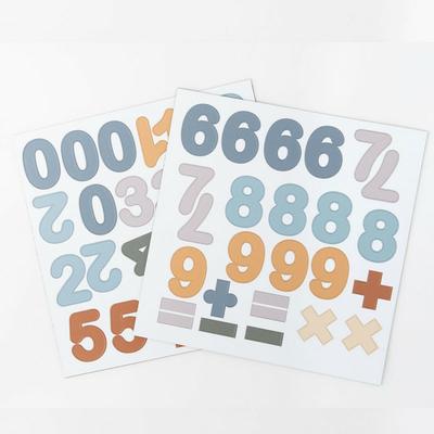 Chiffres magnétiques - bleu caramel - 100 pièces