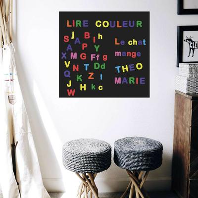 Lettres magnétiques - multicolore - 125 pièces