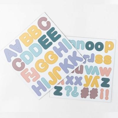 Lettres magnétiques - pastel - 125 pièces