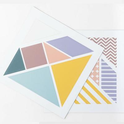 Puzzle magnétique tangram - pastel