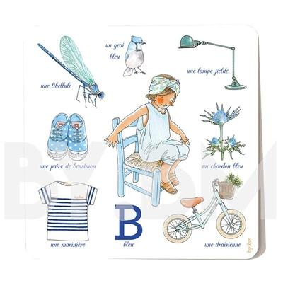 Carte postale Bleu 15 x 15 cm