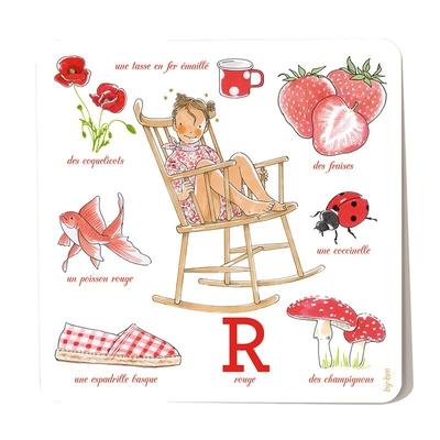 Carte postale Rouge 15 x 15 cm