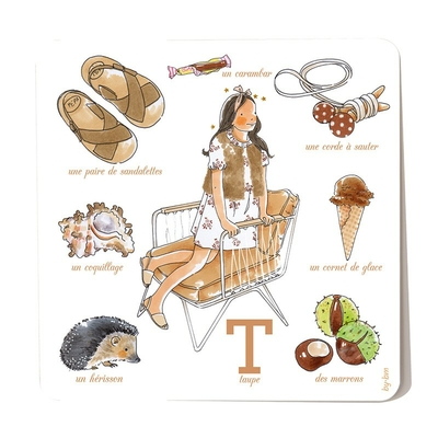 Carte postale Taupe 15 x 15 cm