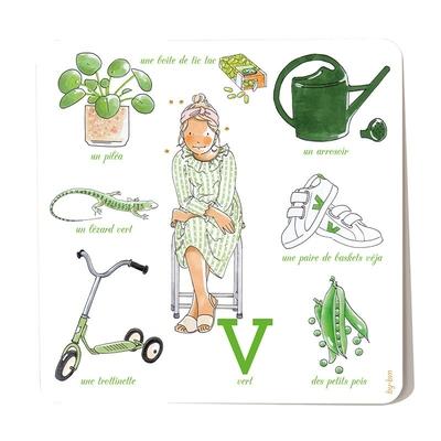 Carte postale Vert 15 x 15 cm
