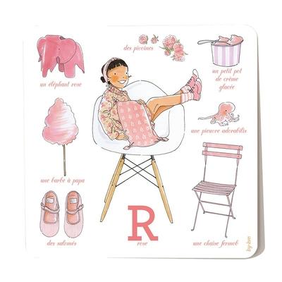 Carte postale Rose 15 x 15 cm
