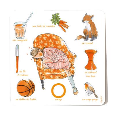Carte postale Orange 15 x 15 cm