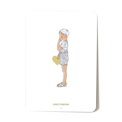 Carte postale Coeur de Maman Garçon