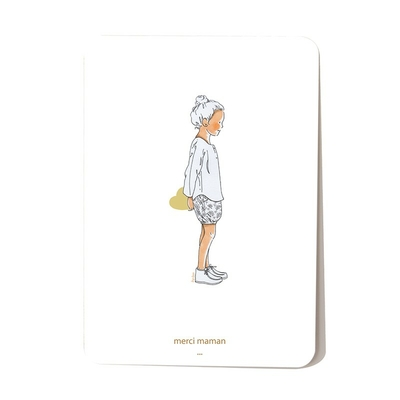 Carte postale Coeur de Maman Fille