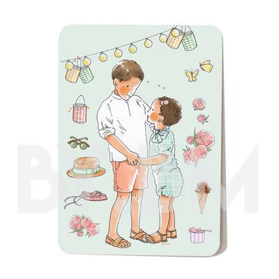 Carte postale L'été 10,5 x 14,5 cm