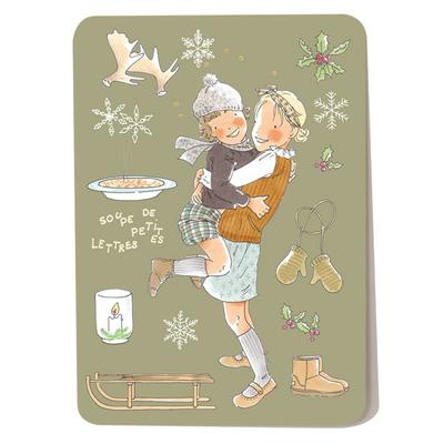 Carte postale L'hiver 10,5 x 14,5 cm